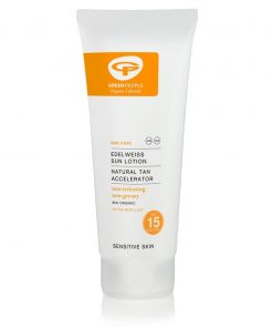 Green People Edelweiss Sun Lotion with Tan Accelerator - SPF15