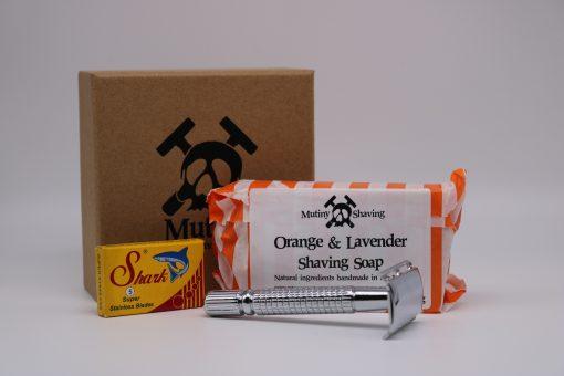 Mutiny Mini Shaving Kit – Orange & Lavender