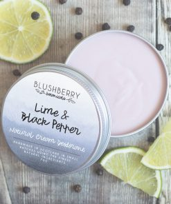 Blushberry Botanicals - Cream Deodorant - Lime & Black Pepper