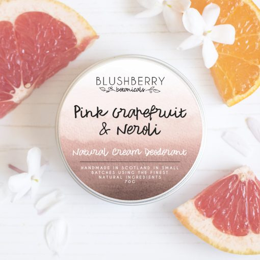 Blushberry Botanicals - Cream Deodorant - Pink Grapefruit & Neroli