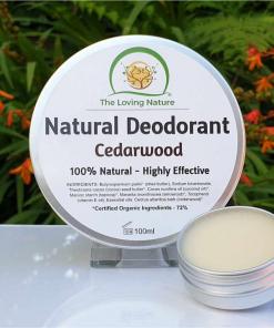 The Loving Nature - Natural Deodorant - Cedarwood