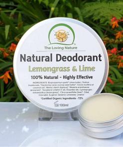 The Loving Nature - Natural Deodorant - Lemongrass & Lime