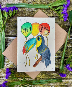 Loop Loop - Plantable Seed Card - Happy Birthday Toucan