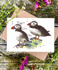 Loop Loop - Plantable Seed Card - I Puffin Love You