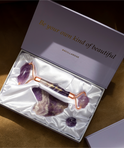 Scilla Rose - Ultimate Amethyst Roller and Gua Sha Beauty Set