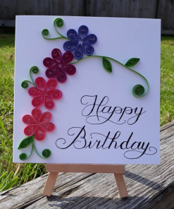 Mother Nature Skin - Handmade Quilled Birthday Card 1