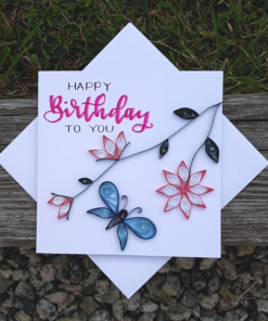 Mother Nature Skin - Handmade Quilled Birthday Card 2