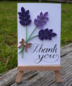 Mother Nature Skin - Handmade Quilled Lavender Card