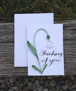 Mother Nature Skin - Handmade Quilled Snowdrop Card