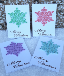 Handmade Quilled Small Snowflake Card