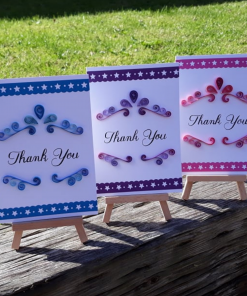 Mother Nature Skin - Handmade Quilled Thank You Card - Set of 3